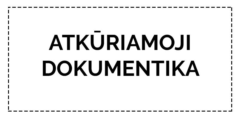 """ATKURIAMOJI DOKUMENTIKA – AMII kviečia išnaudoti visas dokumentikos žanro galimybes bei užmezgus tarpsritinį bendradarbiavimą sukurti Lietuvos jaunųjų kino kūrėjų retai praktikuojamos, tačiau pasaulio kino ir televizijos rinkoje didelę dalį užimančios atkuriamosios dokumentikos produktus. Projekte organizuojamų atkuriamosios dokumentikos kūrybinių dirbtuvių tema  """"Lietuva nuo tremties iki Medininkų tragedijos"""" aprėpia istorinius įvykius nuo 1941 m. birželio mėnesio pirmųjų tremčių iki 1991 m. liepos 31d. Medininkų tragedijos. Planuojama atkurti tris Lietuvai reikšmingus skirtingų laikotarpių istorinius įvykius: vieną tremties epizodą, partizanų mūšį ir Medininkų tragediją. Numatomi projekto lektoriai: Sebastian Cort (vaizdo operatorius), Neringa Medutytė (atkuriamosios dokumentikos režisierė), Jurij Grigorovič (kino dailininkas), Ričardas Matačius (montažo režisierius)."""